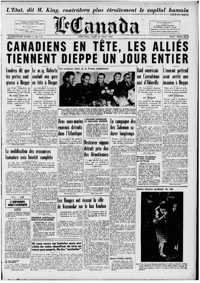 Click image for larger version.  Name:01.00. 1 dieppe raid newspaper 2.jpg Views:7 Size:344.0 KB ID:2121282