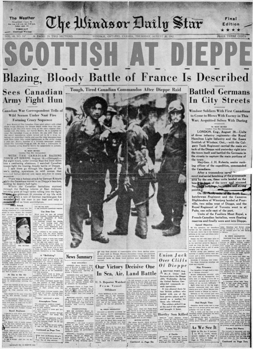 Click image for larger version.  Name:01.00. 1 dieppe raid newspaper 5.jpg Views:17 Size:294.2 KB ID:2121306