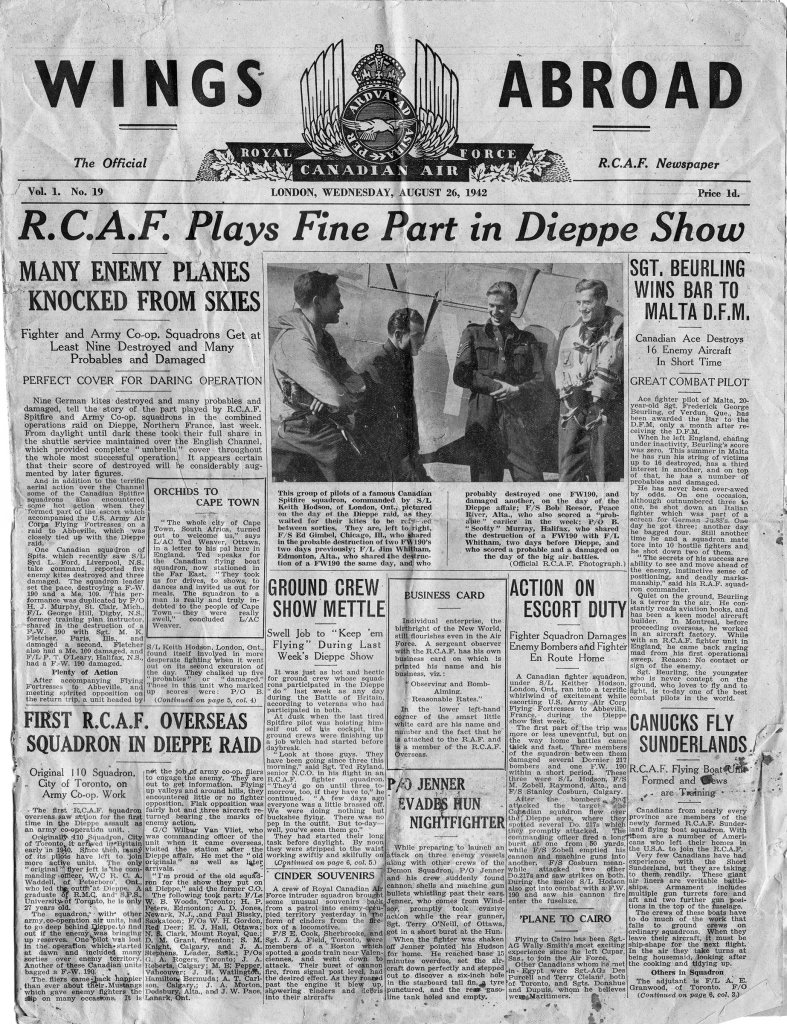 Click image for larger version.  Name:01.00. 1 dieppe raid newspaper 7.jpg Views:7 Size:312.6 KB ID:2121322