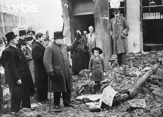Click image for larger version.  Name:01.00. 3 0 13 Churchill adresses bombing victims in Bristol, behind Churchill is Ambassador Wina.jpg Views:1 Size:192.7 KB ID:2135626
