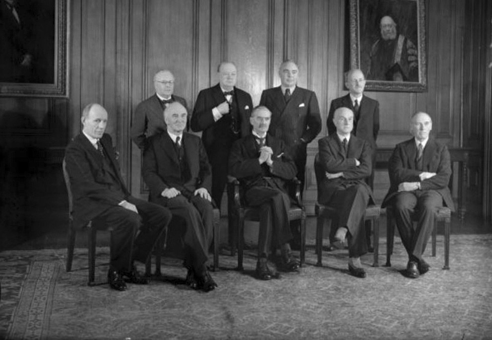 Click image for larger version.  Name:01.00. 3 0 2 b Arthur Neville Chamberlains War Cabinet, standing 1st Sea Lord Churchill, seated .jpg Views:2 Size:272.8 KB ID:2130002