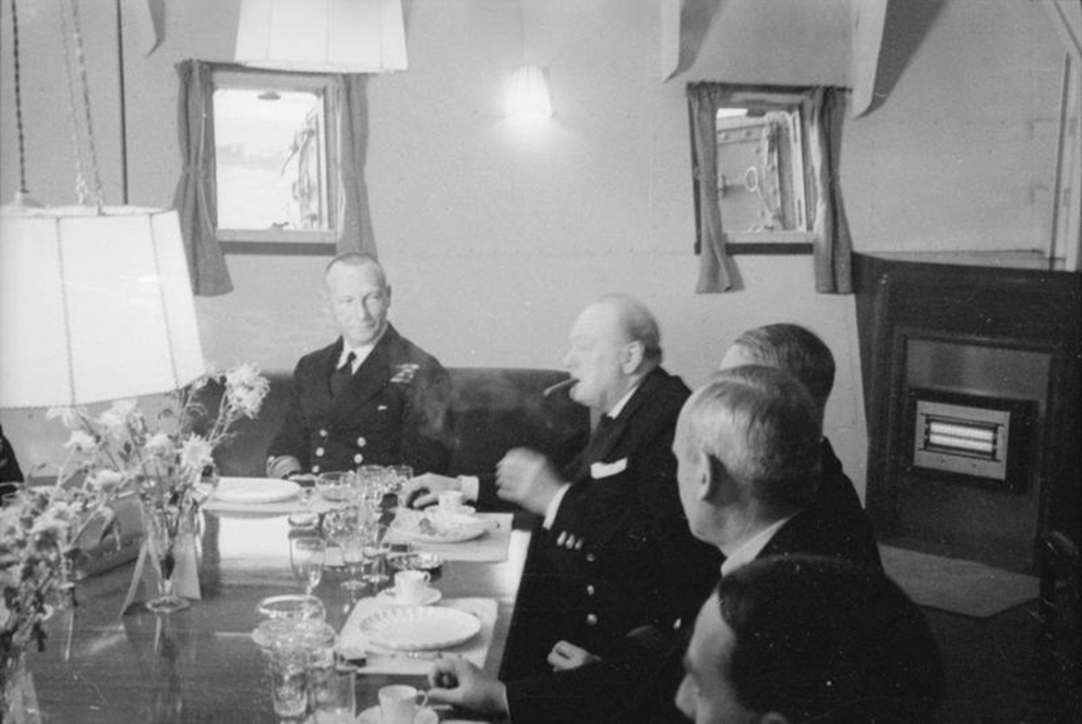 Click image for larger version.  Name:01.00. 3 0 6 a 3 HMS King George V Churchill and Admiral John C Tovey at luncheon on board.jpg Views:3 Size:259.8 KB ID:2130106