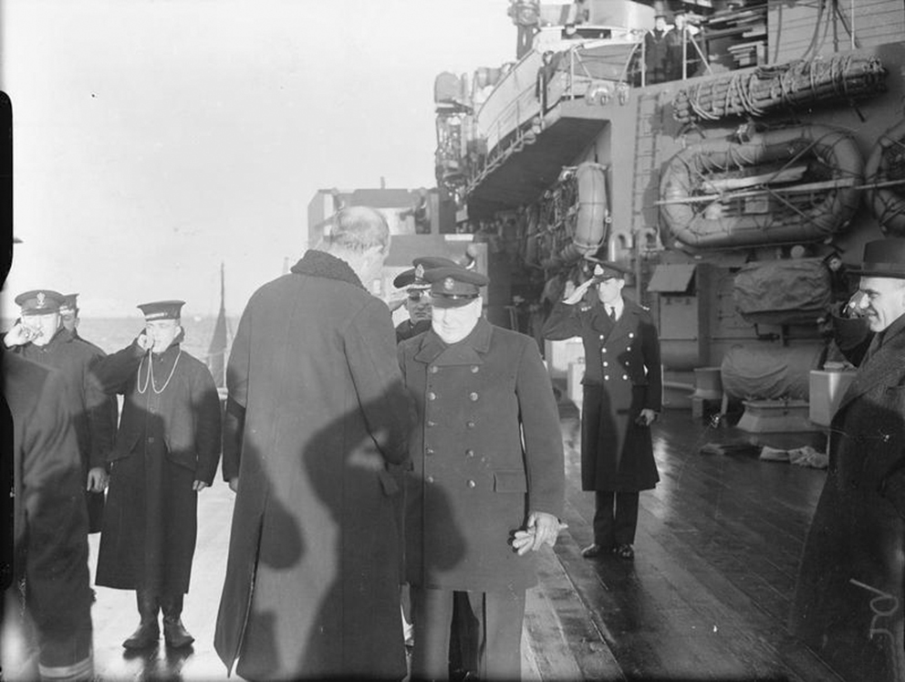 Click image for larger version.  Name:01.00. 3 0 7 a 4 HMS King George V Lord Halifax saying goodbye to Churchill on board HMS KING GE.jpg Views:2 Size:292.1 KB ID:2130122