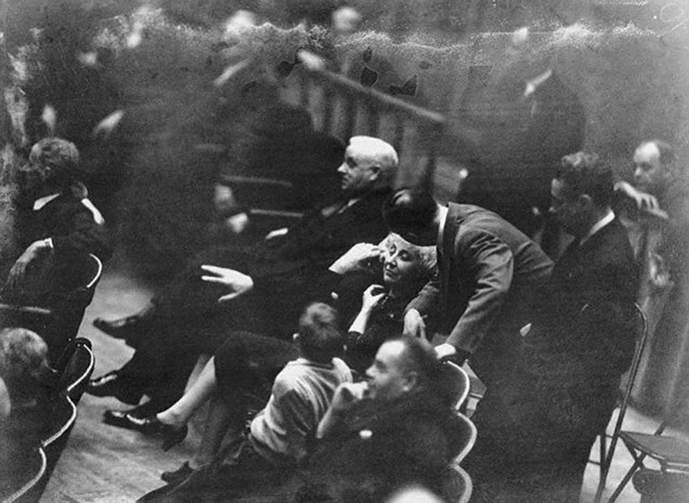 Click image for larger version.  Name:01.00. 3 4 12 Jeannette Rankin listens to lobbying for a unanimous vote for the declaration of w.jpg Views:4 Size:128.0 KB ID:2138338