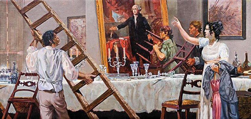 Click image for larger version.  Name:01.00. 53 21 7 b Dolley Payne Todd Madison rescues the portrait of George Washington.jpg Views:4 Size:133.5 KB ID:2161762