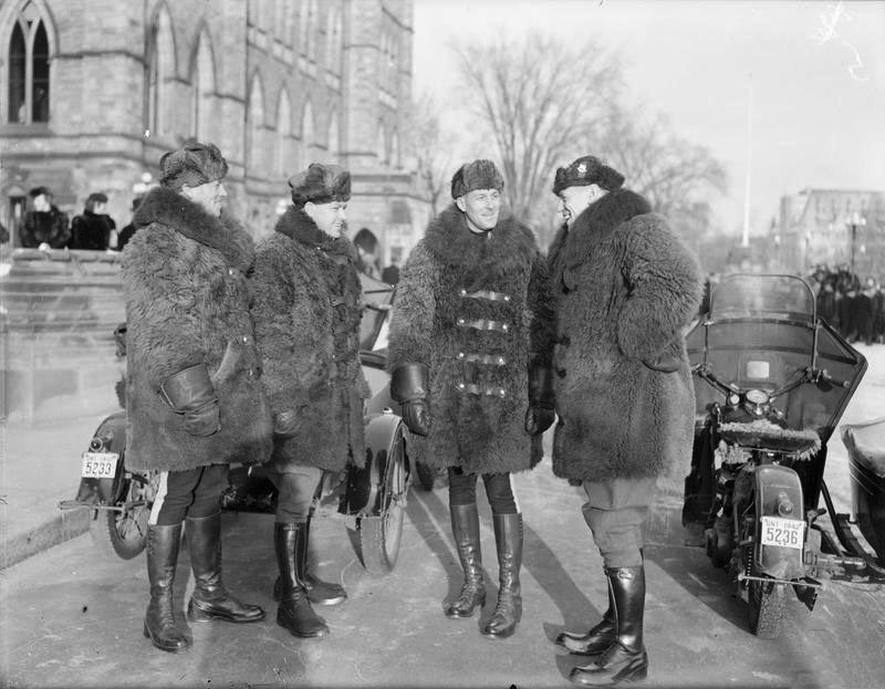Click image for larger version.  Name:01.00. 55 13 3 An escort of Canadian Mounted Police specially selected for Mr Churchill's visit .jpg Views:2 Size:101.1 KB ID:2169138