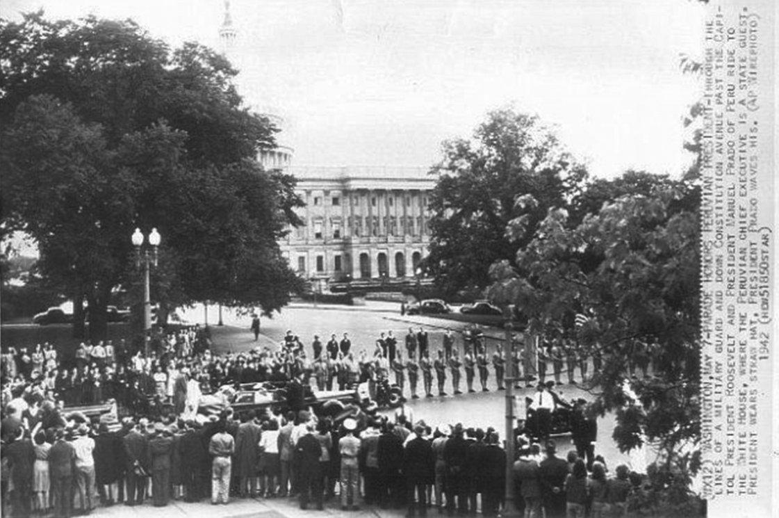 Click image for larger version.  Name:01.00. 66 1 State Capitol Manuel Carlos Prado y Ugarteche visits Washington 1942.jpg Views:2 Size:153.8 KB ID:2172434