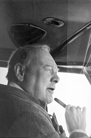 Click image for larger version.  Name:01.00. 84 Churchill at controls of the Boeing 314a Clipper with Cpt John Kelly-Rodgers flying bo.jpg Views:1 Size:35.5 KB ID:2172546
