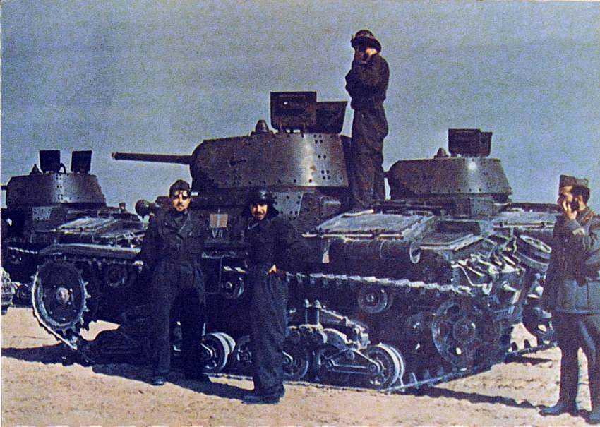Click image for larger version.  Name:01.04. 1 1 21 Bir Hakeim Ita M13-40 tanks of the VII Battaglione, 32 Reggimento Carri, Ariete Ar.jpg Views:1 Size:77.9 KB ID:2236570