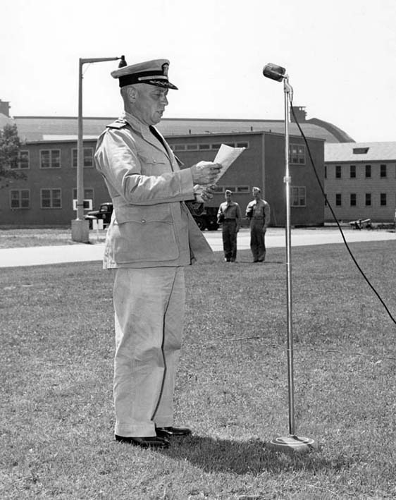 Click image for larger version.  Name:05 01 South Weymouth Capt James L Fisher Reading His Orders June 21 1943.jpg Views:1 Size:83.4 KB ID:553918