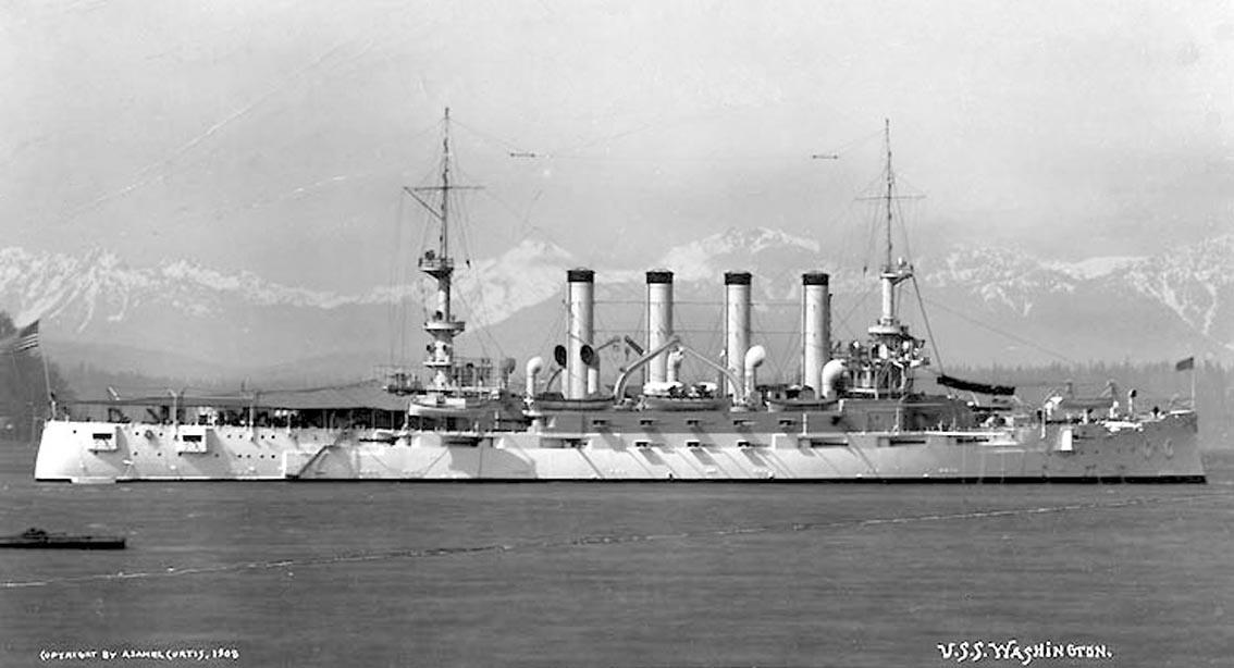 Click image for larger version.  Name:1. 0 1 5 United States Fleet USS Seattle as USS Washington (ACR-11) off Seattle, Washington, 190.jpg Views:2 Size:84.6 KB ID:3675031