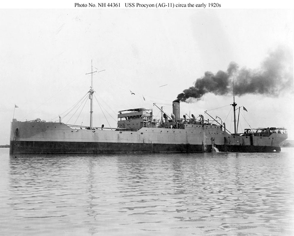 Click image for larger version.  Name:1. 0 4 2 4 USS Procyon (AG-11), circa 1921-1922.jpg Views:2 Size:117.9 KB ID:3675071
