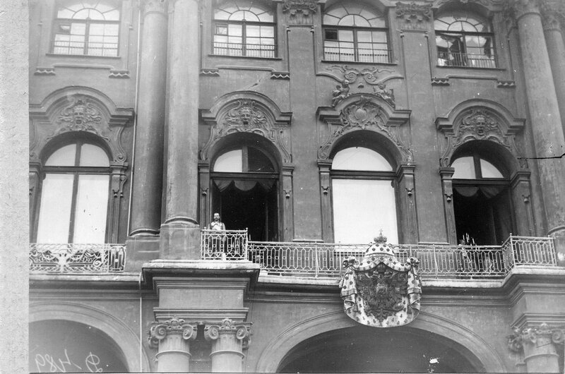 Click image for larger version.  Name:1. 1 1 4 0 3 2 Tsar Nicholas II on the balcony of the Winter Palace on 20 July, 1914 Julian Cale.jpg Views:1 Size:99.9 KB ID:3646079