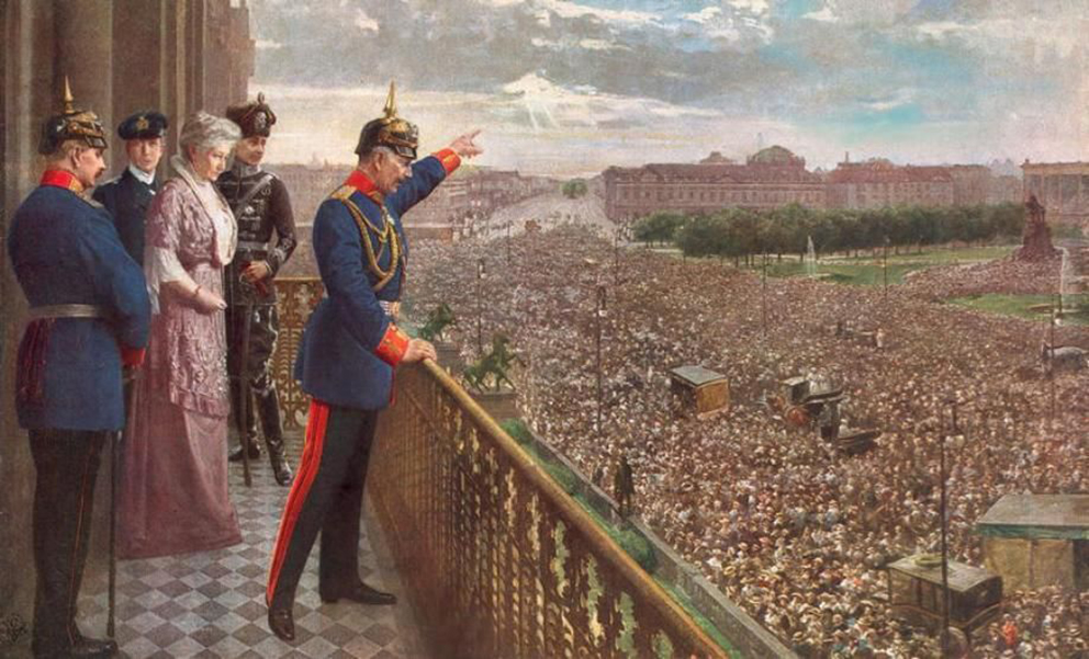Click image for larger version.  Name:1. 1 1 4 0 4 2 Kaiser Wilhelm II announcing the start of WWI on 1 August 1914.jpg Views:1 Size:424.2 KB ID:3646631