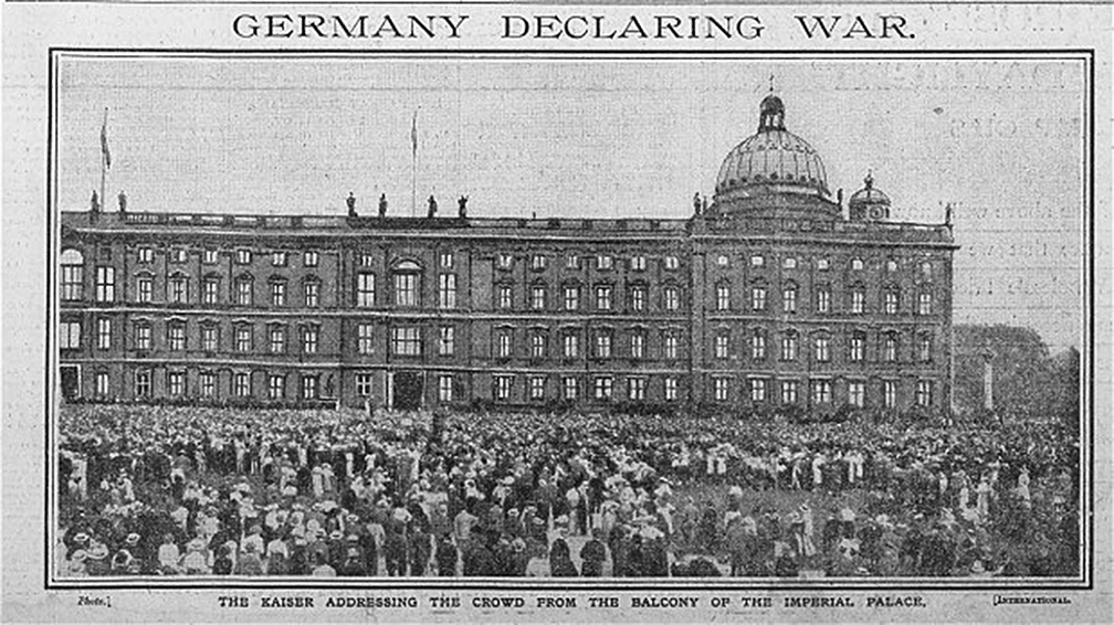 Click image for larger version.  Name:1. 1 1 4 0 4 2 Speech of Emperor Wilhelm II balcony City Palace in Berlin on August 1st, 1914.jpg Views:1 Size:386.5 KB ID:3646635