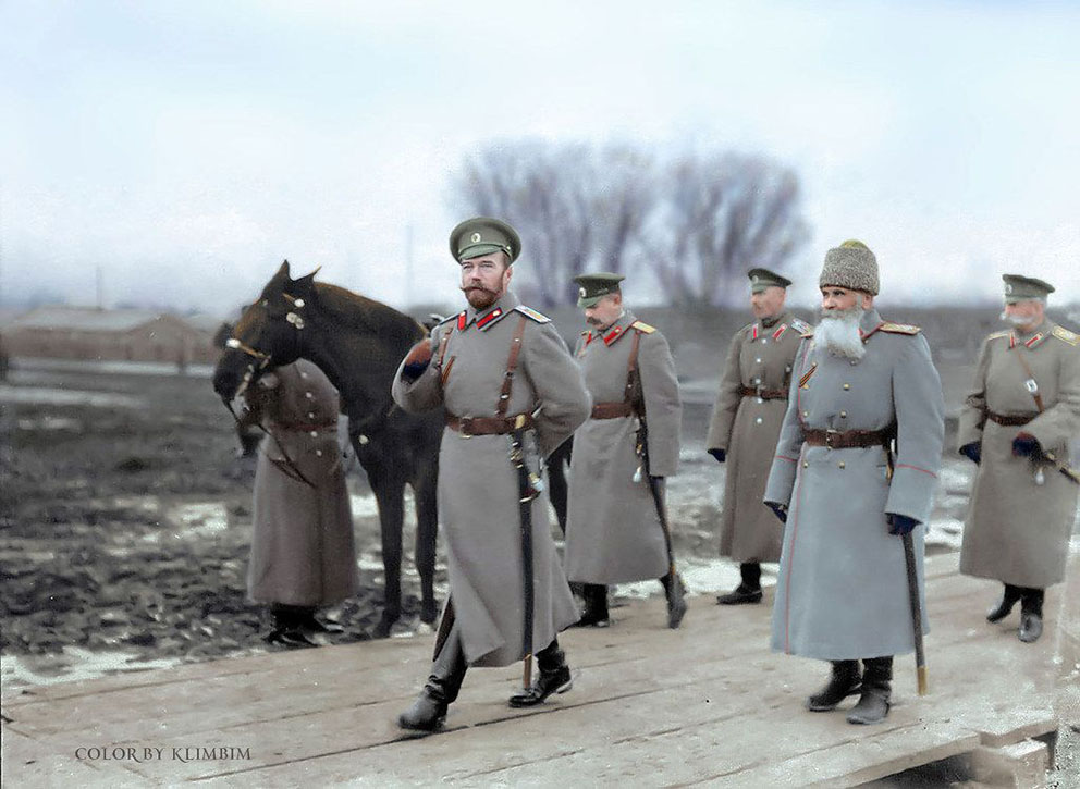 Click image for larger version.  Name:1. 1 1 4 1 2 Czar Nicholas II, General Voeikov, Colonel Mordvinov, Adjutant General Ivanov, Adju.jpg Views:3 Size:136.8 KB ID:3646653