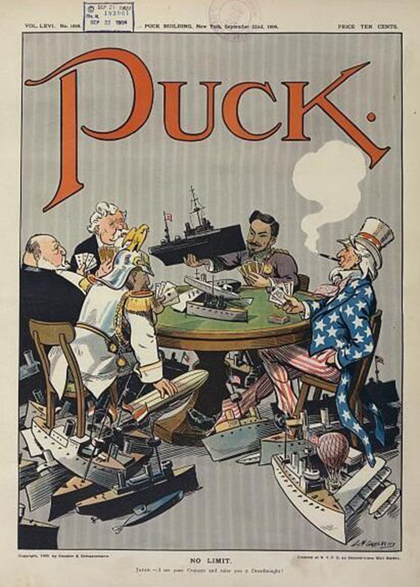Click image for larger version.  Name:1. 1 1 7 0 2 1909 cartoon in Puck shows five nations engaged in naval race.jpg Views:2 Size:367.7 KB ID:3647323