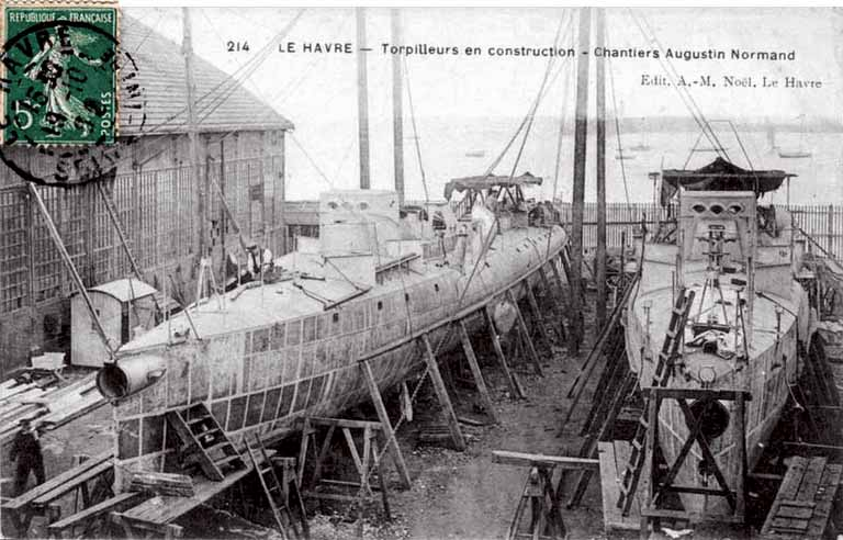 Click image for larger version.  Name:1. 1 1 7 2 0 5 8 Northern Fleet torpilleur 1 chantier-augustin-normand.jpg Views:1 Size:86.9 KB ID:3648165