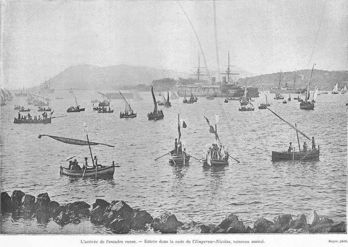 Click image for larger version.  Name:1. 1 1 7 2 2 1 Baltic fleet  1 arrival in Toulon 3 VAISSEAU L'EMPEREUR NICOLAS.JPG Views:1 Size:141.0 KB ID:3648893