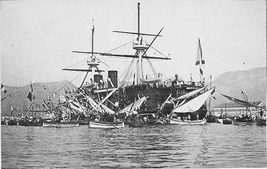 Click image for larger version.  Name:1. 1 1 7 2 2 1 Baltic fleet 5 battleship Imperator Nikolai I 3 in Toulon.jpg Views:1 Size:79.8 KB ID:3648905