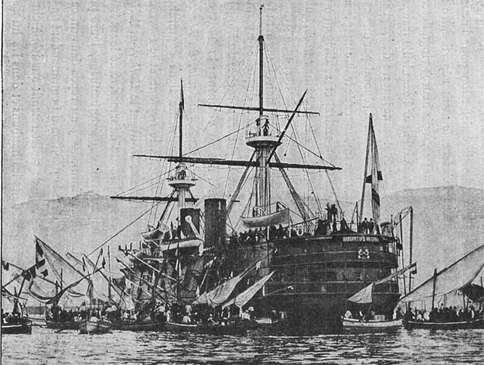 Click image for larger version.  Name:1. 1 1 7 2 2 1 Baltic fleet 5 battleship Imperator Nikolai I 4 in Toulon.jpg Views:1 Size:123.6 KB ID:3648907
