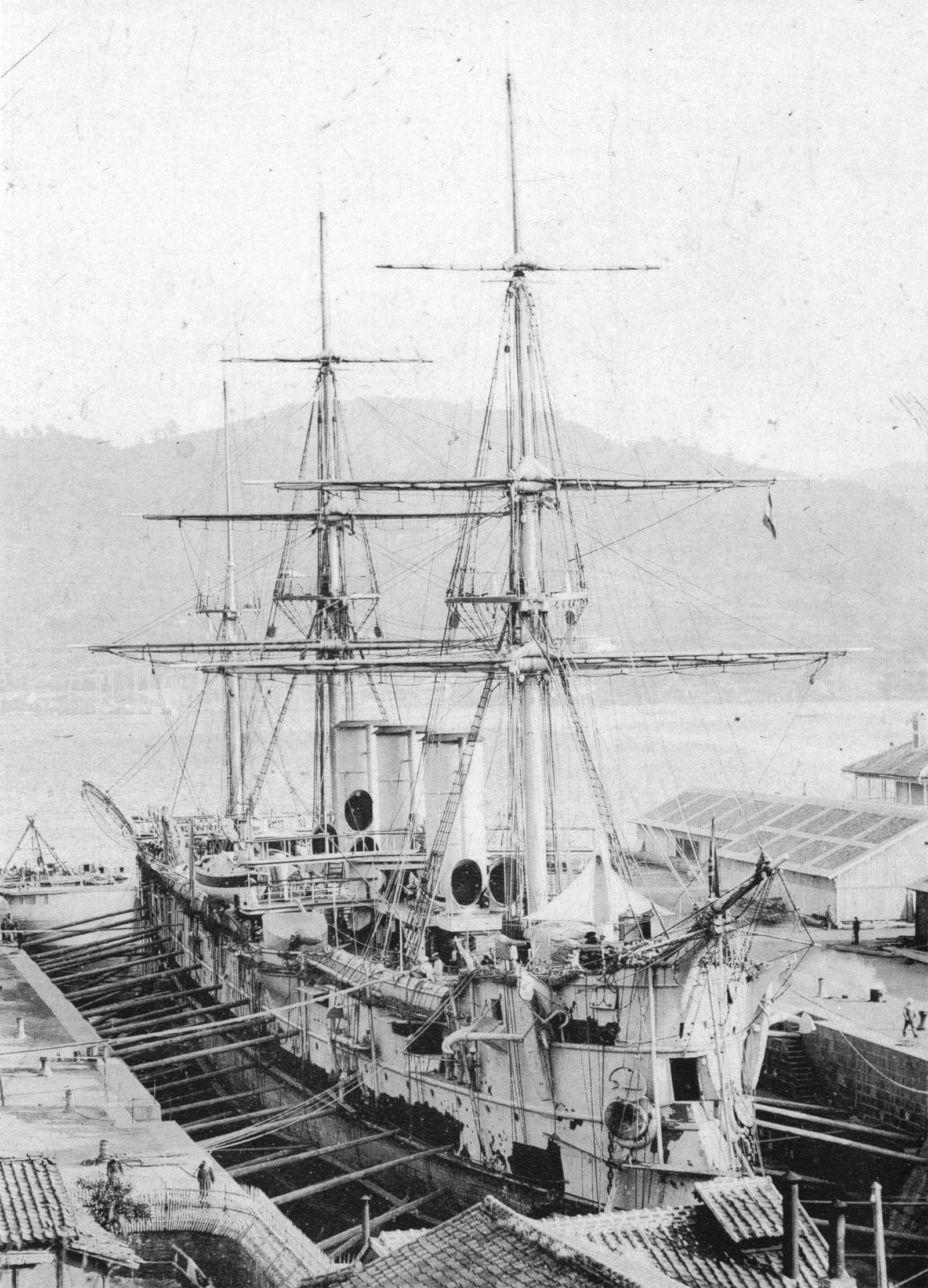 Click image for larger version.  Name:1. 1 1 7 2 2 1 Baltic fleet 5 protected cruiser Pamiat Azova 1891 1.jpg Views:1 Size:575.4 KB ID:3648915