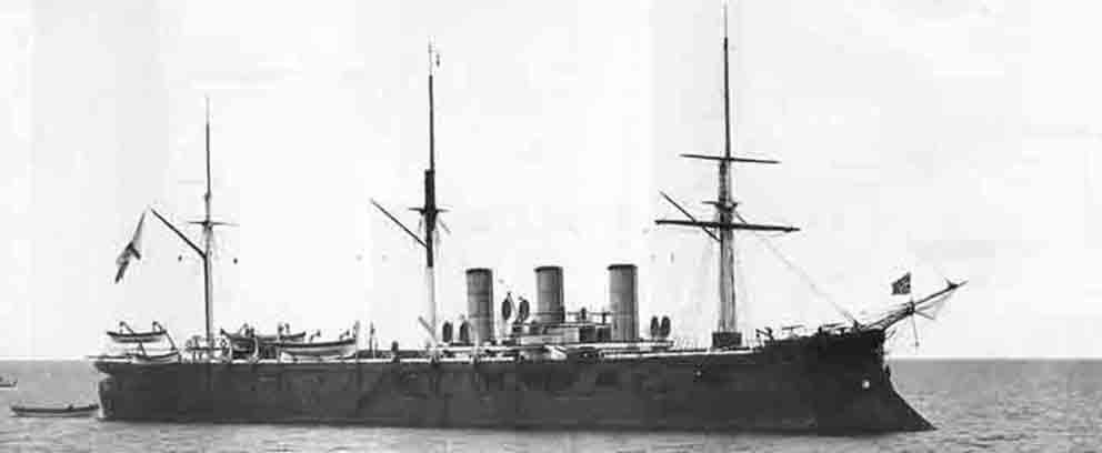 Click image for larger version.  Name:1. 1 1 7 2 2 1 Baltic fleet 5 protected cruiser Pamiat Azova 2.jpg Views:1 Size:22.1 KB ID:3648913