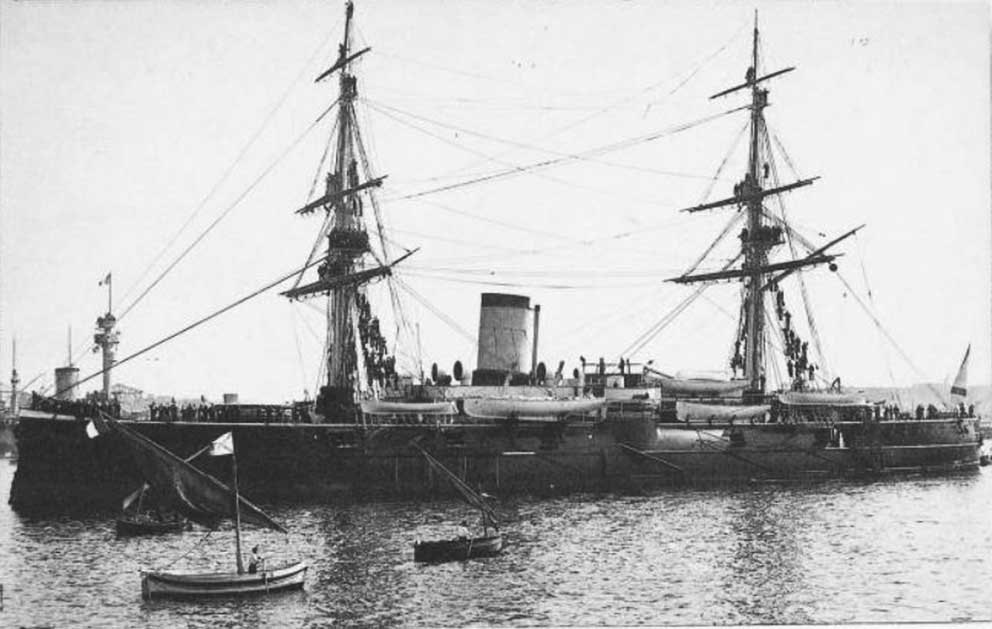 Click image for larger version.  Name:1. 1 1 7 2 2 1 Baltic fleet 6 armored cruiser Admiral Nakhimov 2 in Toulon.JPG Views:1 Size:77.4 KB ID:3648923