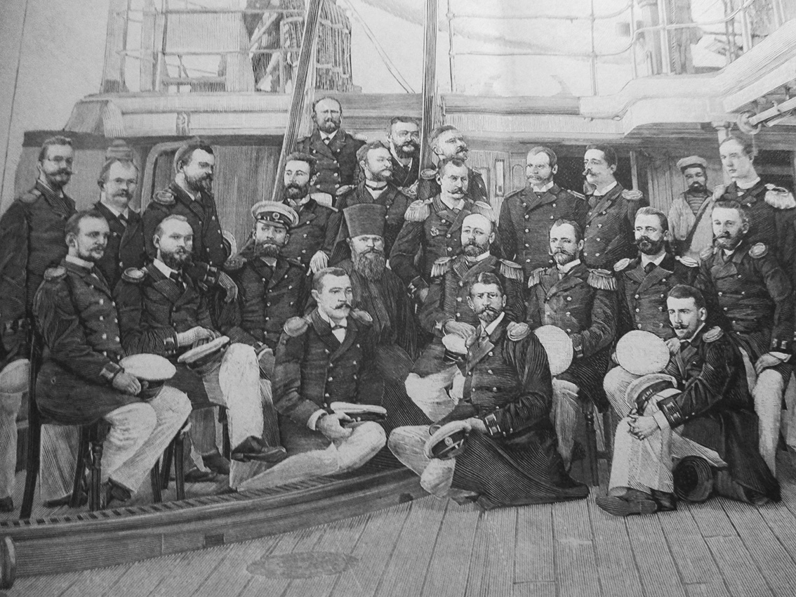 Click image for larger version.  Name:1. 1 1 7 2 2 1 Baltic fleet 7 armored corvette Rynda officers in Touöon.JPG Views:1 Size:386.6 KB ID:3648935