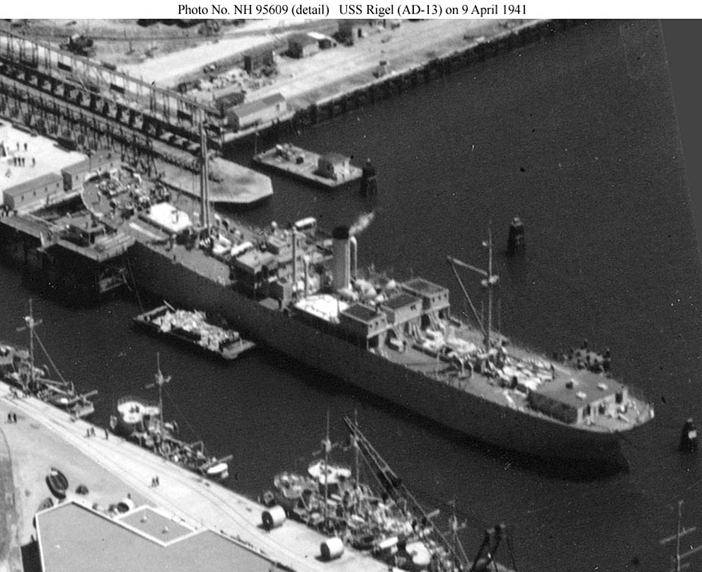 Click image for larger version.  Name:1.1. 2 0 USS Rigel (AD-13) at San Diego, 9 April 1941.jpg Views:2 Size:175.8 KB ID:3676181