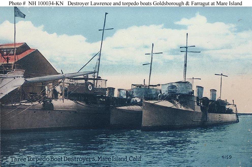 Click image for larger version.  Name:1.1. 2 1 0 3 USS Goldsborough At the Mare Island Navy Yard, California, prior to World War I.jpg Views:2 Size:135.8 KB ID:3676839