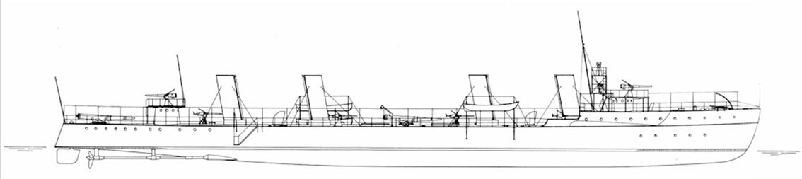 Click image for larger version.  Name:1.1. 2 1 1 USS Bainbridge (DD-1) 3 stern.jpg Views:2 Size:36.7 KB ID:3677531