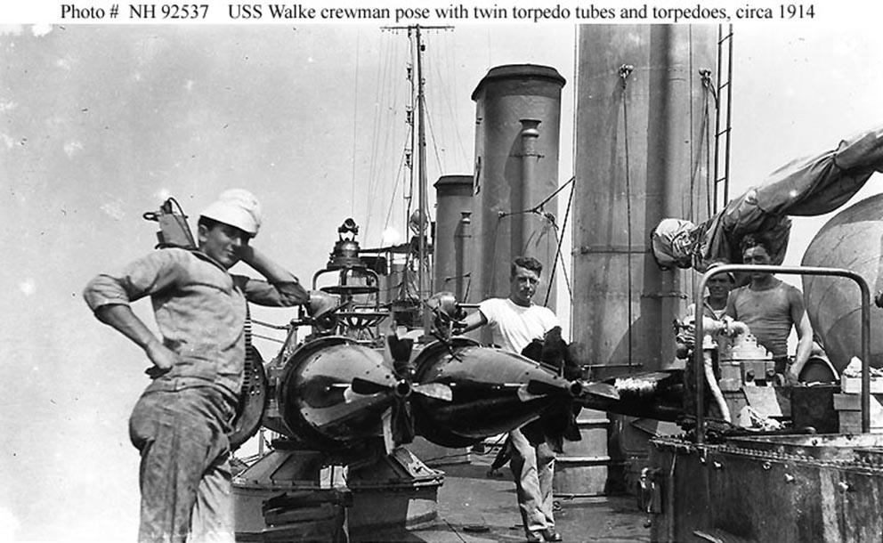 Click image for larger version.  Name:1.1. 2 1 2 broken deckers 2 1 flivvers USS Walke (DD-34) crew members pose.jpg Views:2 Size:128.6 KB ID:3677563
