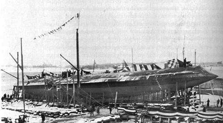 Click image for larger version.  Name:1.1. 2 2 1 0 1 Ram USS Katahdin bow.jpg Views:1 Size:75.8 KB ID:3678033