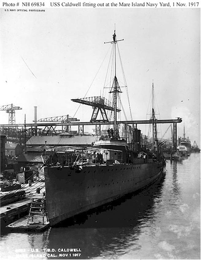 Click image for larger version.  Name:1.1. 2 2 1 6 1 USS Caldwell (Destroyer # 69) fitting out at the Mare Island Navy Yard, Californi.jpg Views:1 Size:106.0 KB ID:3678763