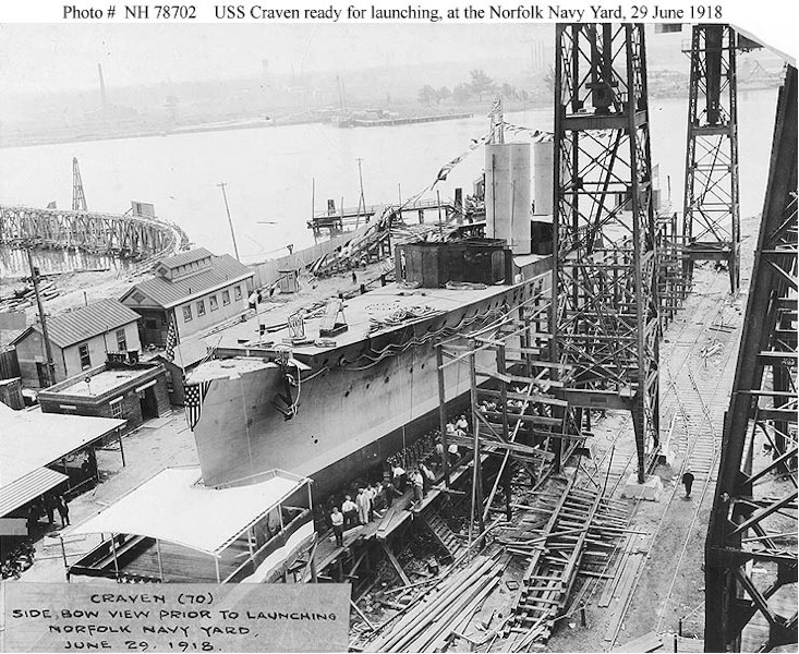 Click image for larger version.  Name:1.1. 2 2 1 6 2 USS Craven (Destroyer # 70) Ready for launching, at the Norfolk Navy Yard, Portsm.jpg Views:1 Size:193.9 KB ID:3678765