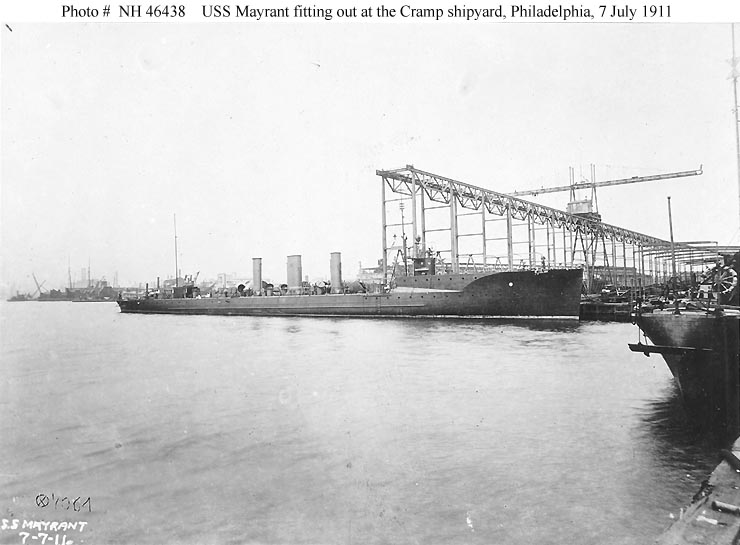 Click image for larger version.  Name:1.1. 2 2 1 6 3b USS Mayrant (Destroyer # 31) Fitting out at the Cramp shipyard, Philadelphia, Pe.jpg Views:1 Size:58.5 KB ID:3678767