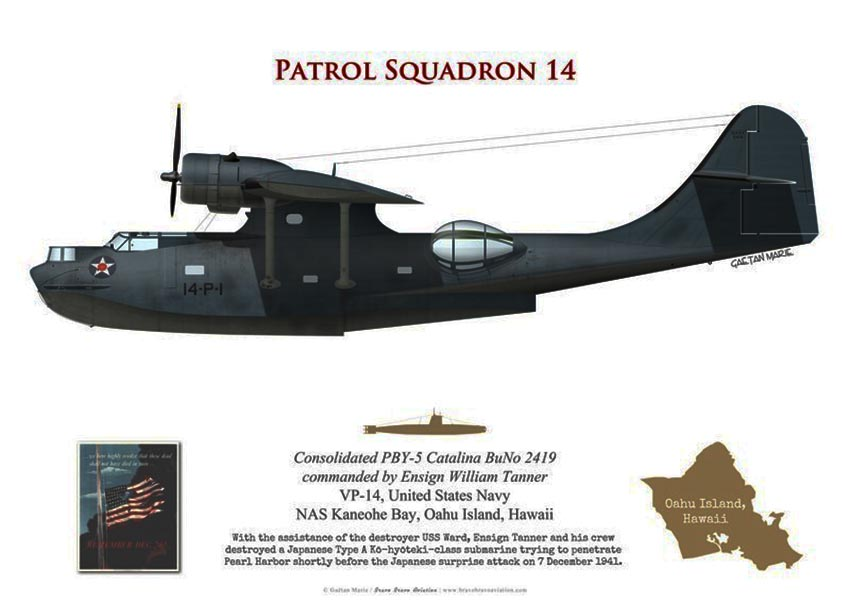 Click image for larger version.  Name:1.1. 2 2 4 31 1 pby 5 catalina ens william tanner vp-14 pearl harbor 7 december 1941.jpg Views:1 Size:64.1 KB ID:3680321