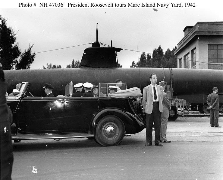 Click image for larger version.  Name:1.1. 2 2 4 33 HA-19 7 at Mare Island Navy Yard, 1942, visit of President Roosevelt.jpg Views:1 Size:82.8 KB ID:3681193