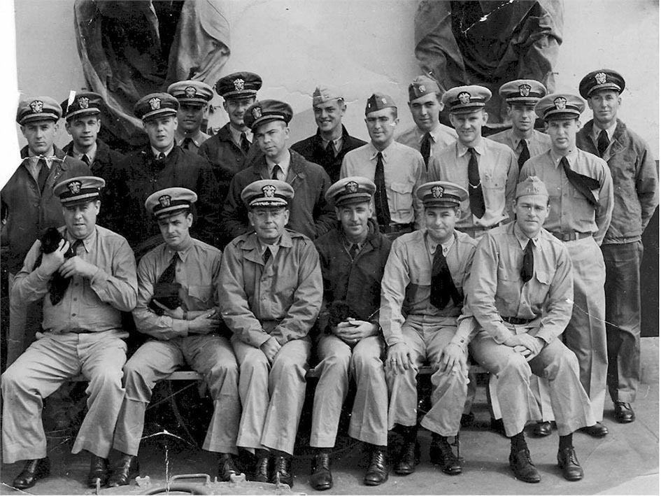 Click image for larger version.  Name:1.1. 2 2 4 42 USS O'Brien (DD-725) officers circa 1944. The officer 3rd from left front, is CDR .jpg Views:1 Size:163.0 KB ID:3681669