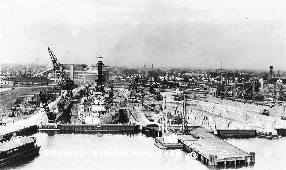 Click image for larger version.  Name:1.1. 2 4 7 USS Colorado in drydock, Norfolk Navy Yard, Portsmouth, Virginia, mid-1920s.jpg Views:2 Size:197.7 KB ID:3682343