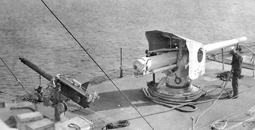 Click image for larger version.  Name:1.1. 2 6 2 Clemson Class Destroyer, Automatic 1-pdr on an AA mounting and 4in-50 (10.2 cm) 1918.jpg Views:1 Size:69.5 KB ID:3682361