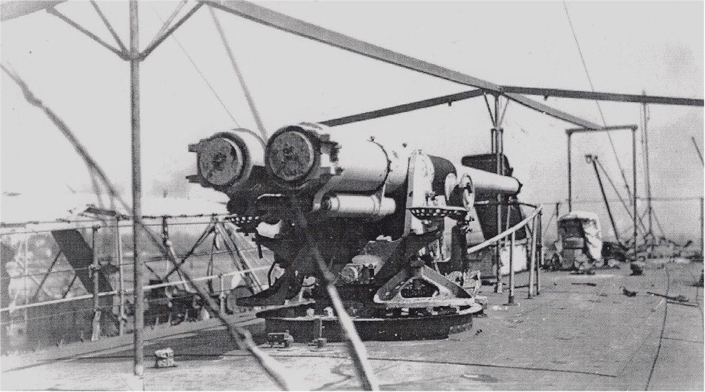 Click image for larger version.  Name:1.1. 2 8 8 USS Broome (DD-210) twin gun mount that was removed and replaced with USS Corry's (DD.jpg Views:1 Size:167.7 KB ID:3682405