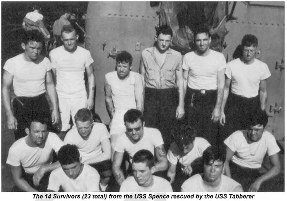 Click image for larger version.  Name:1.1. 3 0 5 1 USS Spence (DD-512) Typhonn Cobra 14 survivors.JPG Views:3 Size:107.6 KB ID:3682967
