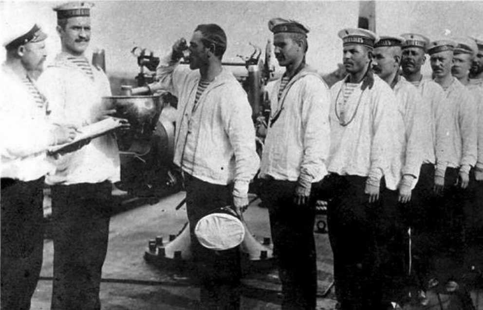 Click image for larger version.  Name:2.2. 7 2 Czarist Imperial Russian sailors taking their daily ration of rum.jpg Views:1 Size:113.3 KB ID:3652147