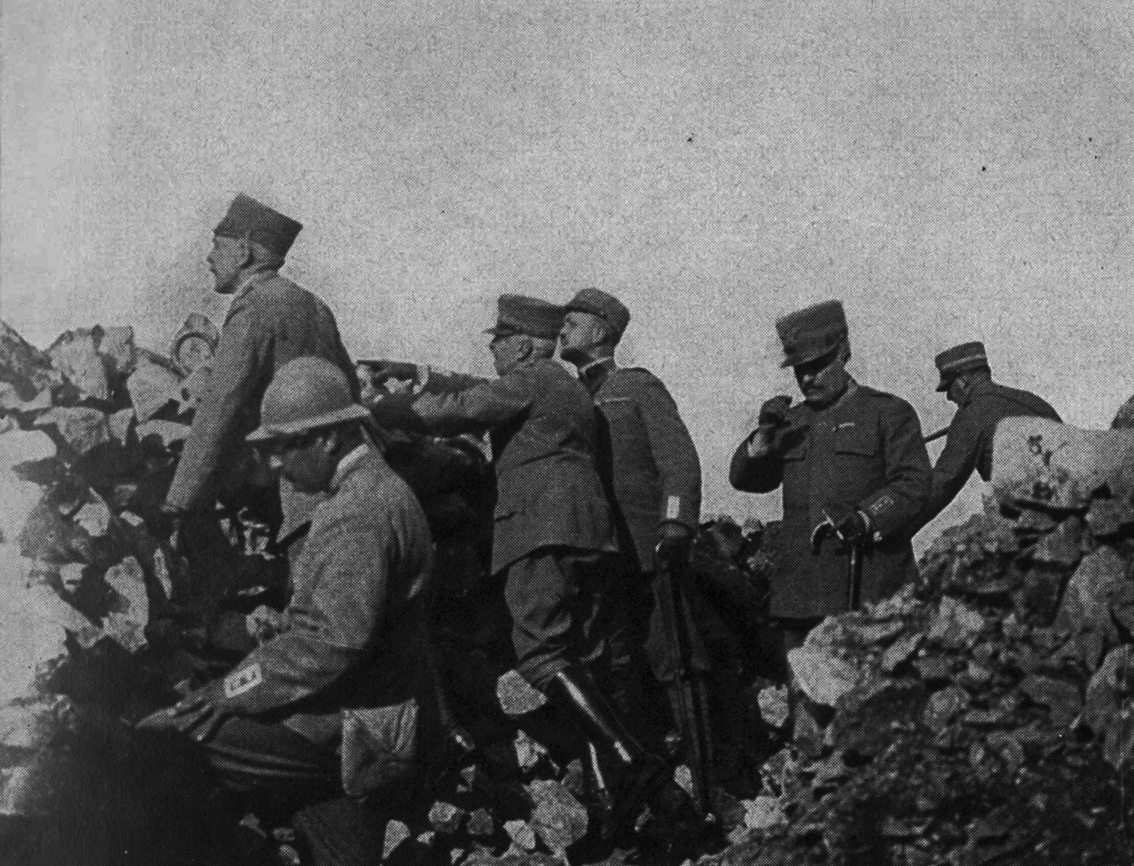 Click image for larger version.  Name:2.3.2. 30 3 Isonzo Pietro Badoglio and Luigi Cadorna visiting the defenses of the XXVII Army Cor.jpg Views:1 Size:662.1 KB ID:3656299