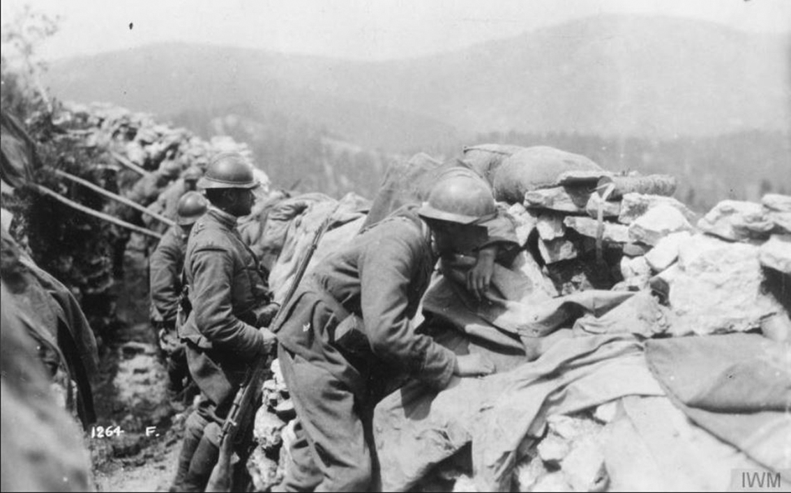 Click image for larger version.  Name:2.3.2. 31 13 First Piave Battle Italian troops defend the Monte Grappa, between the Brenta and t.JPG Views:1 Size:323.9 KB ID:3656819