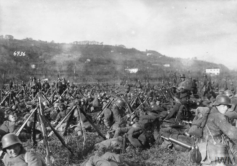 Click image for larger version.  Name:2.3.2. 9 12th Isonzo Battle German infantry resting in the field near Vittorio, November 1917..jpg Views:1 Size:83.0 KB ID:3655613