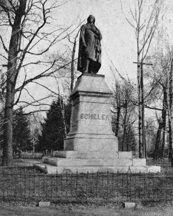 Click image for larger version.  Name:2.4.3. 12 30 Columbus Ohio Schiller Park Schiller Statue.jpg Views:1 Size:141.6 KB ID:3667965