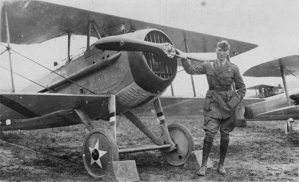 Click image for larger version.  Name:2.4.3. 12 32 Captain Edward Vernon Rickenbacker posed with a 94th Aero Squadron SPAD XIII.jpg Views:1 Size:154.1 KB ID:3667999